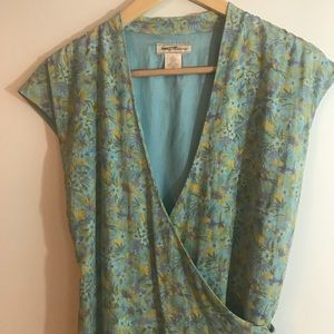 Tommy Bahama Silk Wrap Maxi Dress Tropical Size 8